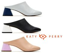 Katy Perry Casual Style Plain Leather Chunky Heels Sandals
