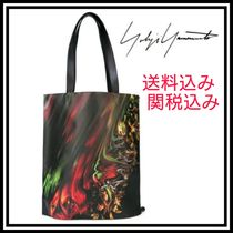 Yohji Yamamoto Flower Patterns Leather Totes