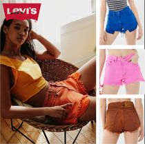 Levi's Short Casual Style Denim Plain Denim & Cotton Shorts