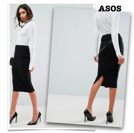 Asos 2019 Ss Pencil Skirts Plain