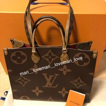 Louis Vuitton MONOGRAM Plain Office Style Totes