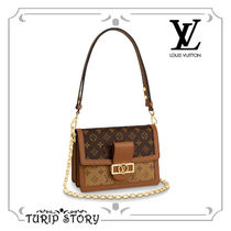 Louis Vuitton MONOGRAM Monogram Canvas 2WAY Chain Elegant Style Shoulder Bags