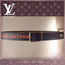 Louis Vuitton DAMIER COBALT Blended Fabrics Street Style Leather Belts