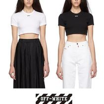 Off-White Street Style Plain Cotton Short Sleeves T-Shirts