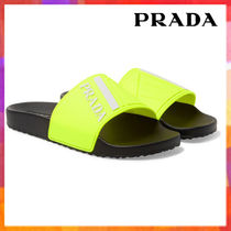 PRADA Plain Shower Shoes Shower Sandals