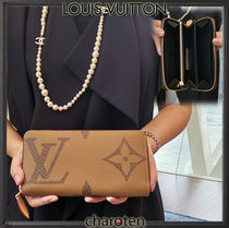 Louis Vuitton MONOGRAM Monogram Unisex Canvas Bi-color Long Wallets