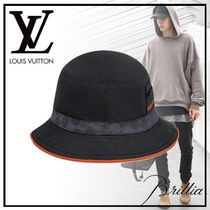 Louis Vuitton DAMIER COBALT Unisex Wide-brimmed Hats