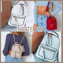 WHITE FOX Casual Style 3WAY Plain Backpacks