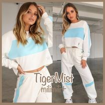Tiger Mist Star Street Style Plain Cotton Medium Hoodies & Sweatshirts