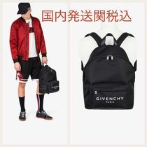 GIVENCHY Unisex Nylon Street Style A4 Bi-color Plain Backpacks
