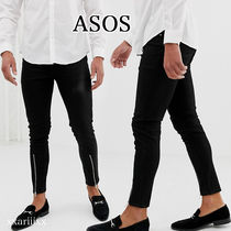 ASOS Blended Fabrics Street Style Plain Cotton Men Skinny Pants