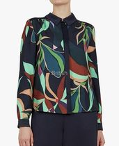 TED BAKER Flower Patterns Casual Style Long Sleeves Plain Medium