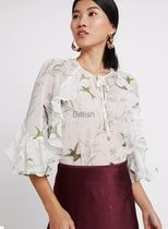 TED BAKER Flower Patterns Casual Style Cropped Plain Medium