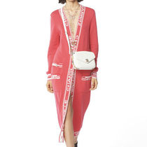 CHANEL Cashmere Long Sleeves Plain Long Gowns Oversized Cashmere
