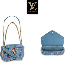 Louis Vuitton MONOGRAM Monogram Blended Fabrics 2WAY Chain Party Style Party Bags
