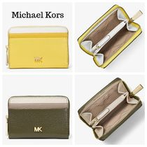 Michael Kors MERCER Plain Leather Coin Purses