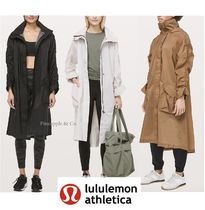 lululemon Casual Style Street Style Plain Long Trench Coats