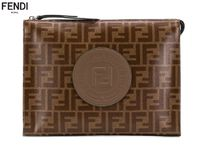 FENDI FOREVER Unisex Street Style Leather Clutches