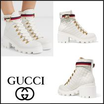 GUCCI Casual Style Street Style Leather Ankle & Booties Boots