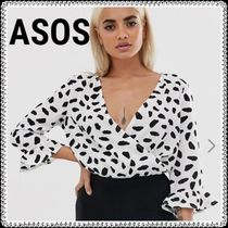 ASOS Dots Casual Style Puffed Sleeves Street Style Medium