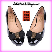 Salvatore Ferragamo Platform Casual Style Plain Leather Espadrille Shoes