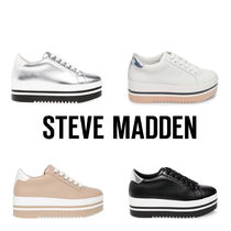 Steve Madden Platform Lace-up Plain Platform & Wedge Sneakers