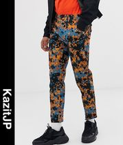 ASOS Printed Pants Flower Patterns Camouflage Street Style