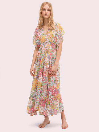 Flower Patterns Casual Style Street Style Long Dresses