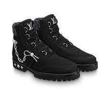 Louis Vuitton MONOGRAM Mountain Boots Suede Blended Fabrics Street Style Plain