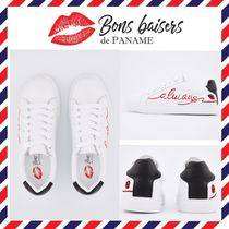 Bons baisers de Paname Heart Plain Leather Low-Top Sneakers