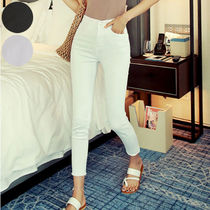 Casual Style Cotton Long Skinny Pants