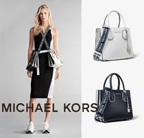 Michael Kors MERCER 2WAY PVC Clothing Shoulder Bags