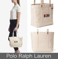 POLO RALPH LAUREN Casual Style Street Style Totes