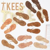 TKEES Casual Style Plain Flat Sandals