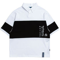 ROMANTIC CROWN Casual Style Unisex Short Sleeves Polo Shirts