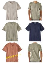Patagonia Henry Neck Plain Cotton Short Sleeves Henley T-Shirts