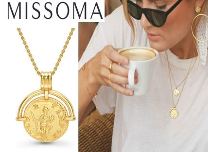 Casual Style Unisex Coin Street Style 18K Gold