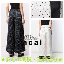 sacai Dots Casual Style Street Style Long Culottes & Gaucho Pants