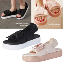 PUMA Open Toe Platform Casual Style Footbed Sandals Flat Sandals