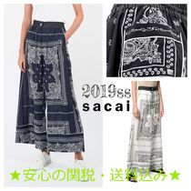 sacai Casual Style Street Style Long Culottes & Gaucho Pants