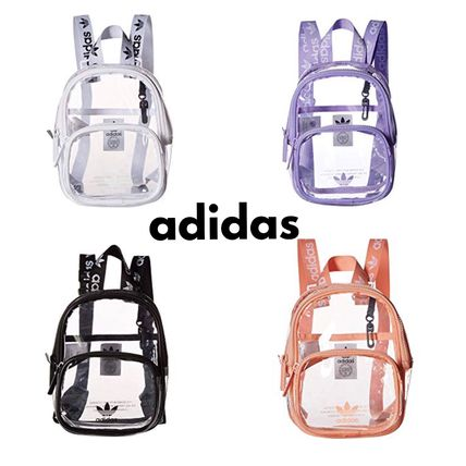 Casual Style Plain Crystal Clear Bags Backpacks