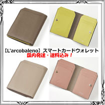 L'arcobaleno Unisex Street Style Bi-color Leather Handmade Accessories
