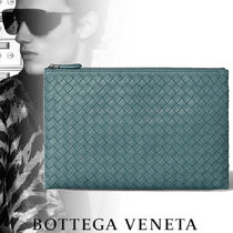 BOTTEGA VENETA Plain Leather Clutches