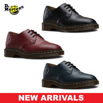 Dr Martens Round Toe Lace-up Casual Style Unisex Blended Fabrics