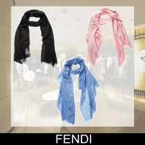 FENDI Monogram Cashmere Elegant Style Accessories