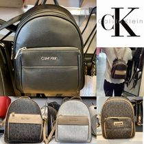 Calvin Klein Casual Style Street Style Leather Backpacks