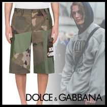 Dolce & Gabbana Printed Pants Camouflage Street Style Cotton Shorts