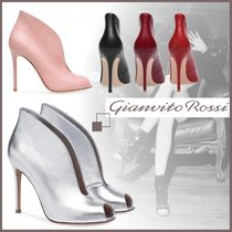 Gianvito Rossi Open Toe Leather Elegant Style Ankle & Booties Boots