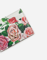 Dolce & Gabbana Flower Patterns Calfskin Card Holders