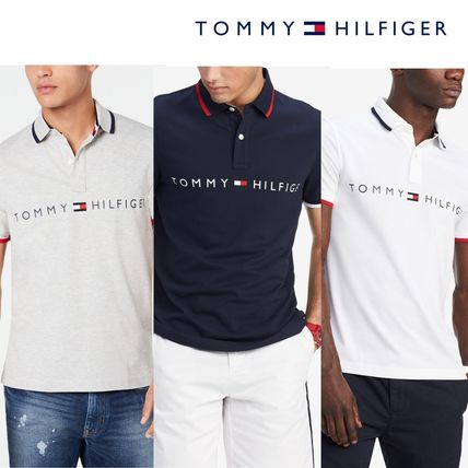 Tommy Hilfiger Polos Plain Cotton Short Sleeves Polos